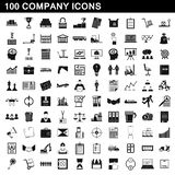 100 company icons set, simple style. 100 company icons set in simple style for any design illustration stock illustration