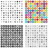 100 company icons set vector variant. 100 company icons set vector in 4 variant for any web design isolated on white Royalty Free Stock Photos