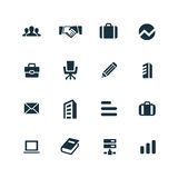 Company icons set Stock Image