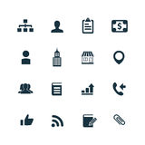 Company icons set Stock Images