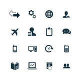 Company icons set Royalty Free Stock Image