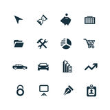 Company icons set. On white background Stock Photo
