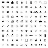 100 company icons. 100 company simple icons on white background Royalty Free Illustration