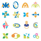 Company_icons_symbols. Several concepts for company logos. Vector illustration Royalty Free Stock Photo