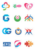Company_icons_symbols. Several concepts for company logos. Vector illustration Royalty Free Stock Images
