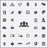 Company icons universal set Royalty Free Stock Photography