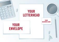 Company identity presentation format. Royalty Free Stock Image