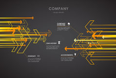 Company infographic overview design template with arrows Royalty Free Stock Image