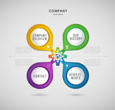 Company infographic overview design template Stock Photos