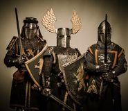Company of knights Royalty Free Stock Photo