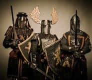 Company of knights royalty free stock photo