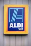 Company label Aldi Discounter Stock Photo