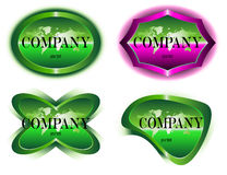 Company label design Stock Photos