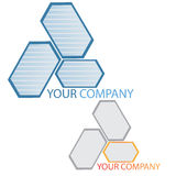 Company  logo. Company logo on white background Royalty Free Stock Image