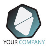 Company  logo. Company logo on white background Royalty Free Stock Photography