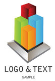 Company Logo. Real estate symbol,logo for design and decorate Stock Images