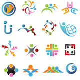 Company Logo. Isolated people signs and symbols Stock Photo