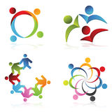 Company Logo. Isolated people signs and symbols Stock Image