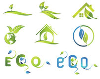Company Logo. Isolated green ecological  signs and symbols Stock Photography