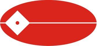 Company logo. Ellipsoidal red and white company logo Royalty Free Stock Photos