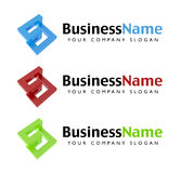 Company Logo. S for your company in three colors Stock Images