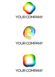 Company Logo. Three Logo Versions to use by a communications or media company. They can be used like a illustration Stock Photos