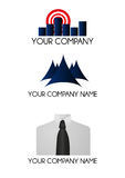 Company Logo. Three Logo Versions to use by a communications or finance company. They can be used like a illustration Stock Photography
