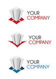 Company Logo. Three Logo Versions to use by a communications or finance company. They can be used like a illustration Royalty Free Stock Photography