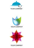 Company Logo. Three Logo to be used by a company connected to the foodservice or energy or environmental. They can be used like a illustration Stock Images
