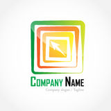 Company logo. On whith background Royalty Free Stock Images
