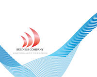 Company logo. Abstract company page with label and perspective Royalty Free Stock Photo