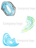 Company logo abstract set 1. Vector illustration of three highly detailed abstract company logos Royalty Free Stock Photos