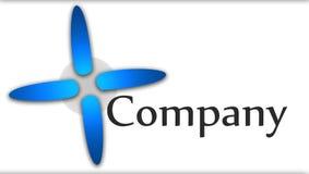 Company Logo. Blue - Grey - White Royalty Free Stock Photos