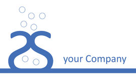 Company Logo - Blue Vase. There is a double S blue vase, with some kind of water drops Stock Photography
