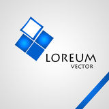 Company Logo. Blue - White. Sign Royalty Free Stock Photography