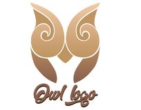 Company logo brown owl royalty free illustration