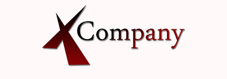 Company Logo. Color candied apple Stock Images