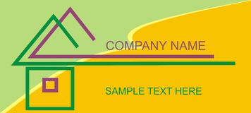 Company. Logo for construction company - the opportunity to write your own text Royalty Free Stock Photography