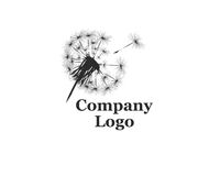 Company Logo with dandelion. On a white background stock illustration
