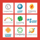 Company logo design. A set of company logo designs Stock Photography