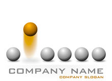 Company logo design. A company logo or business card design Stock Photography