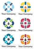 Company logo design. In multiple colors Royalty Free Stock Photo