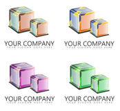 Company Logo Designs with Cubes Royalty Free Stock Images