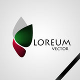 Company Logo. Green - Red - Grey Stock Photography