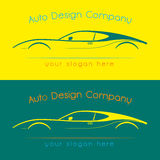 Company logo icon element template. Vector company logo icon element template car auto drawing line contour shape Royalty Free Stock Photography