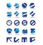 Company logo icon set Royalty Free Stock Photography
