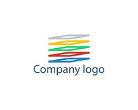 Company logo illustration. Company logo vector illustration on white background Royalty Free Stock Images