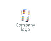 Company logo illustration. On white background vector Royalty Free Stock Image