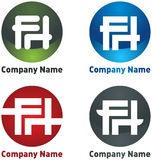 Company logo with letters F, H Royalty Free Stock Image