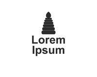 Company logo with pyramid. On white background illustration Stock Photos